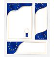 European union flag banners set vector image
