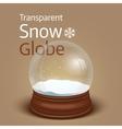 Christmas transparent snow globe vector image