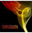 Abstract fire colored smoke vector image vector image