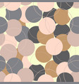 abstract seamless pattern with colored circles vector image