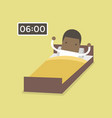 african businessman wake up early vector image