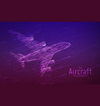airliner constructed with glowing lines vector image vector image