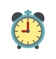 Alarm clock icon flat style vector image