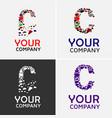 alphabet c logo design vector image vector image