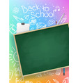 back to school banner design copy space for design vector image vector image