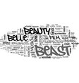 beauty and the beast dvd review text word cloud