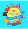 best price discount sale color advertising banner vector image vector image