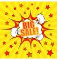 Big sale comic banner template vector image