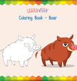 Boar coloring book educational game vector image vector image
