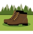camping boots shoes isolated icon design vector image