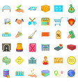 canister icons set cartoon style vector image vector image