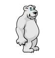 cartoon polar bear character vector image