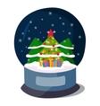Christmas icon symbol vector image vector image