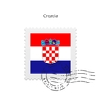 Croatia Flag Postage Stamp vector image vector image