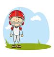 Cute boy avatar character football player