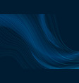 dark blue curved line abstract waves background vector image vector image