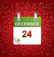 december holiday calendar vector image vector image