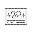 ecg machine displaying heartbeat monitoring vector image