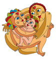 Family concept graphic artistic Mother fa vector image vector image