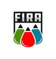 fire extinguishing fluid ball logo vector image vector image