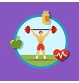 Fitness Icons sports and exercise vector image vector image
