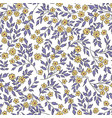 floral seamless pattern with flowers and vector image vector image
