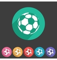 Football soccer icon flat web sign symbol logo vector image vector image