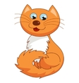 Ginger cartoon kitty of funny vector image vector image