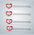 glass strips with sliders in form heart vector image