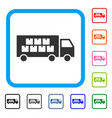 goods transportation truck framed icon vector image