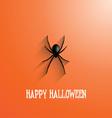 halloween spider background 0509 vector image vector image