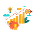 income increase financial strategy vector image