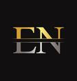 initial en letter linked logo business template vector image vector image