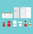 kitchen tools set collection with various shape vector image vector image