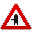 Left Crossroad Sign vector image vector image