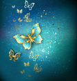Luxury Gold Butterflies vector image vector image