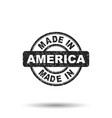 made in america stamp on white background vector image vector image