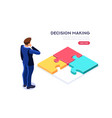 making decision symbol vector image vector image