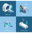 Medical Equipment Isometric 4 Icons Square vector image vector image