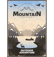 Mountain Travel Poster vector image vector image