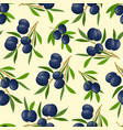 pattern with olive branches vector image vector image