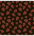Pattern with red roses vector image vector image