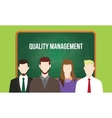 quality management concept in a team vector image vector image