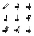 repair house hand tool icon set simple style vector image vector image