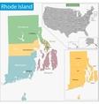 Rhode Island map vector image vector image