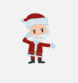 santa claus is angry and points his head with vector image vector image