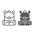 schoolbag line and glyph icon rucksack and bag vector image vector image