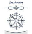 sea adventure cordage ropes collection vector image vector image