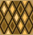 seamless geometric pattern wiith golden rhombuses vector image vector image