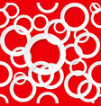 seamless texture circles on red background vector image vector image